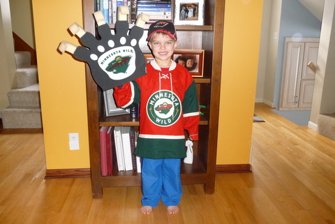 Will on his way to the wild game